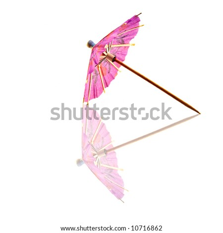 stock photo : Cocktail bar drink paper umbrella.