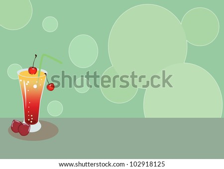 Cocktail card background with space (poster, web, leaflet, magazine)