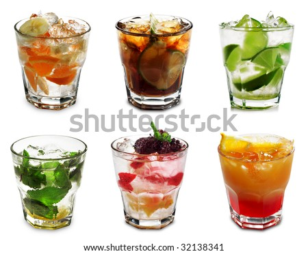 Cocktail Collection Isolated on White Background #32138341