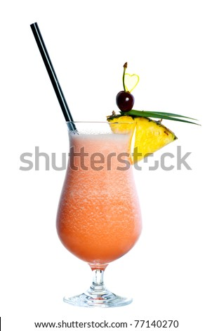 cocktail drink in decorated glass