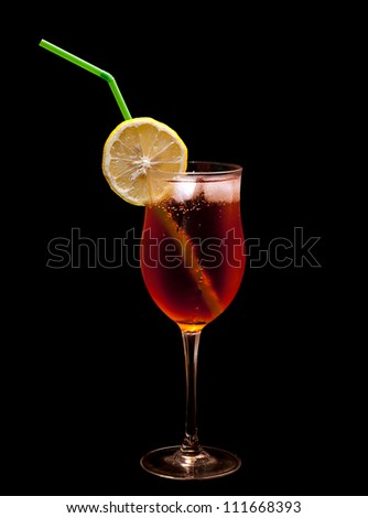 Cocktail drink isolated over white