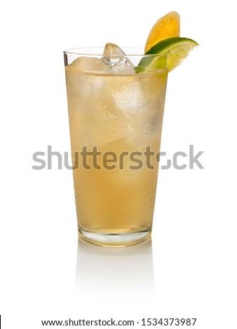 Cocktail drink on white background  Stok fotoğraf ©