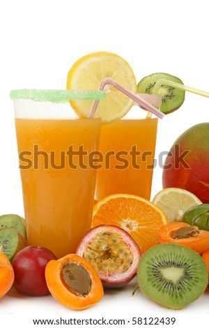 cocktail, glass of juice