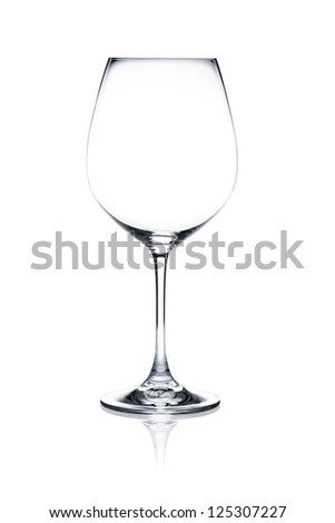 Cocktail glass set. Empty red wine glass isolated on white background