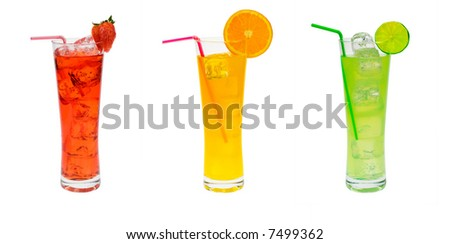 cocktail party set isolated on a white background