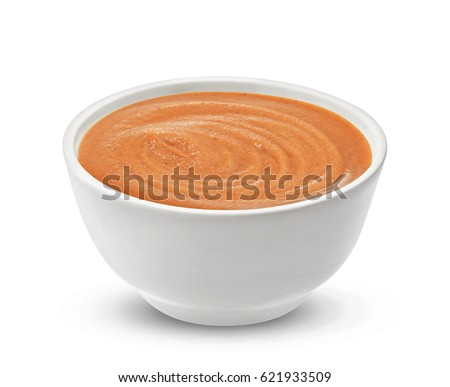 Cocktail sauce isolated on white with clipping path, one of the collection of various sauces #621933509