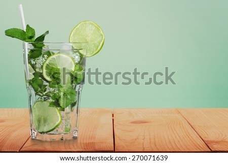 Cocktail. Set of cocktails soft and long-drinks ind front of white background