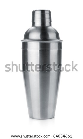 Cocktail shaker. Isolated on white background