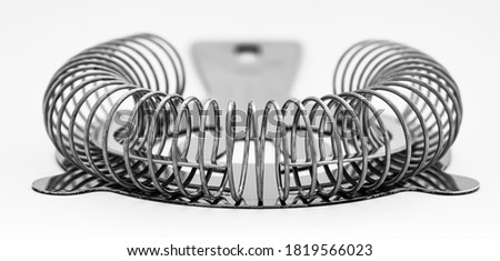 Cocktail strainer on white background Stock photo ©