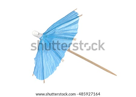 Cocktail umbrella isolated on a white background #485927164