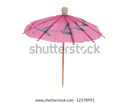 Cocktail umbrella isolated on white background