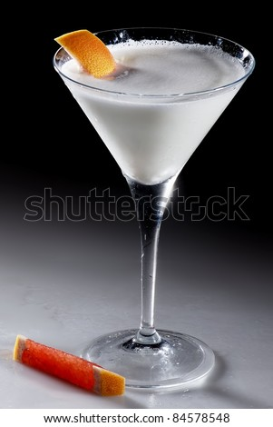 Cocktail White Martini isolated