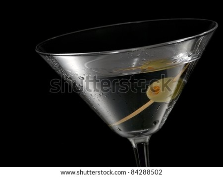 Cocktail with a olive