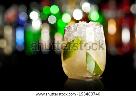 Cocktail with Lime and Ice #153483740