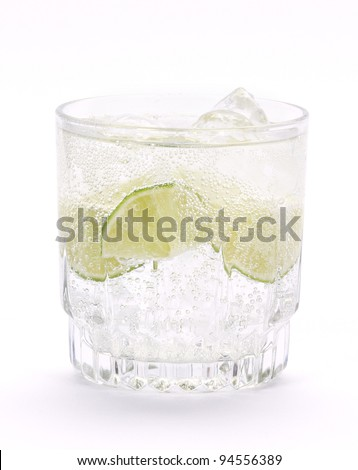 Cocktail with lime and mint.