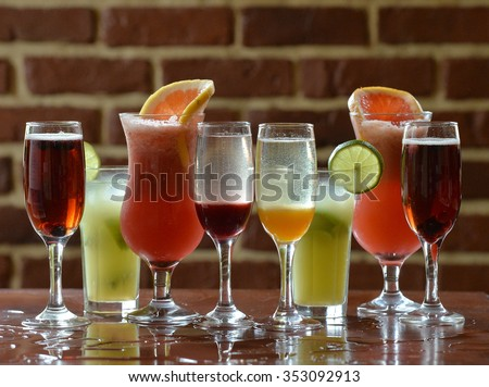 Cocktails And Refreshing drinks #353092913
