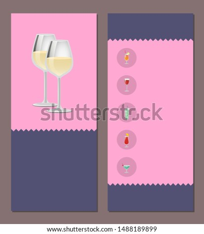 Cocktails menu cover design list of drinks we have prices and ingredients choose refreshing alcohol beverage bar card with beverages to order raster
