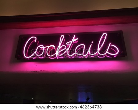 Cocktails Neon Sign #462364738