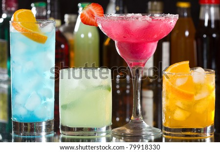 cocktails with fruits