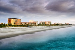 Cocoa Beach, Florida beachfront hotels and resorts.