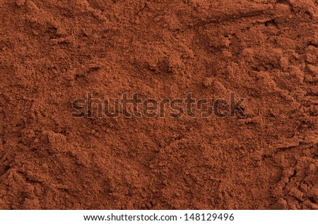 Cocoa powder top close-up background