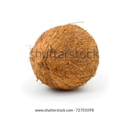 Coconut against a white background