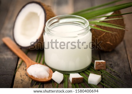 Coconut and milk tropical useful dessert