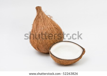 Coconut fruit isolated on white background