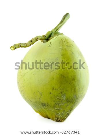 Coconut Fruit on white background.