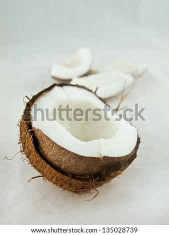 Coconut in a shell