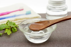 Coconut oil pulling - image of oral care
