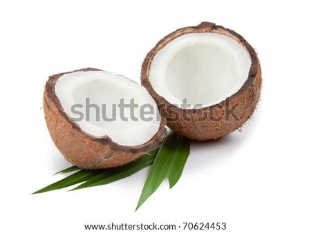 Coconut on white background - stock photo