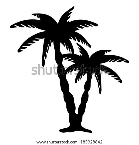 Palm Trees Background Black And White Coconut Palms Trees Black