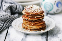 Coconut pancakes with nuts