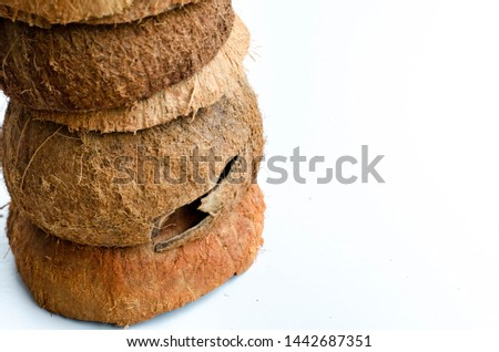 Coconut shells that are layered in layers #1442687351