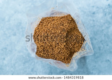 Coconut Sugar in Plastic Package Ready to Use.