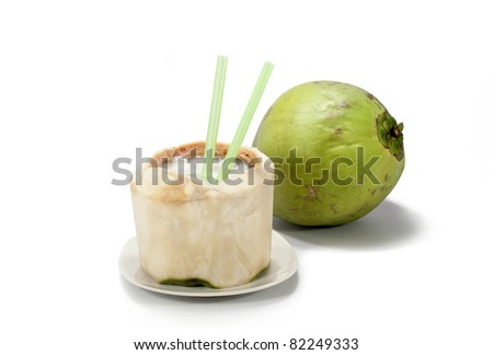 Coconut  with white background