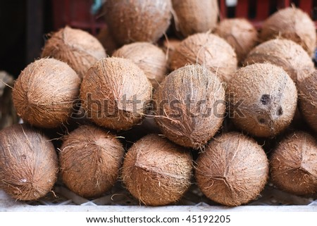 Coconuts from Moroccan Market - stock photo