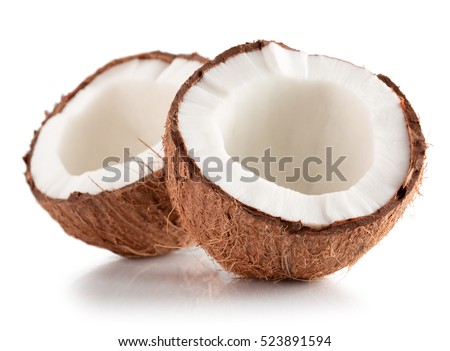Shutterstock coconuts isolated on the white background