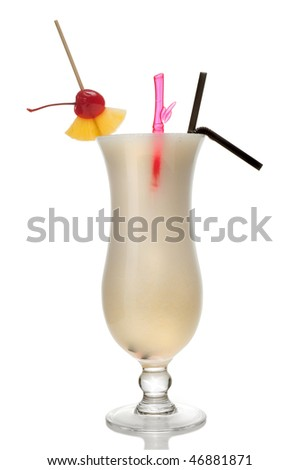 Coctail isolated over white background