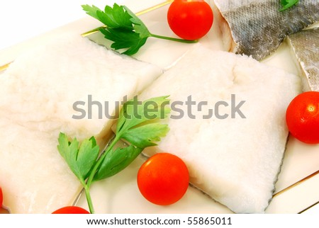 Cod fillets ready to cook