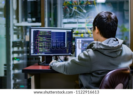 coding code program programming compute coder work write software hacker develop man concept