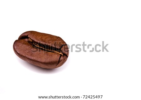 Coffe bean isolated on white background