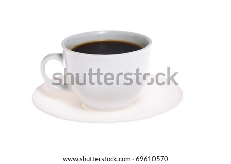 Coffe cup isoalted on white background - stock photo