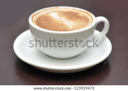 Coffe with milk white cup