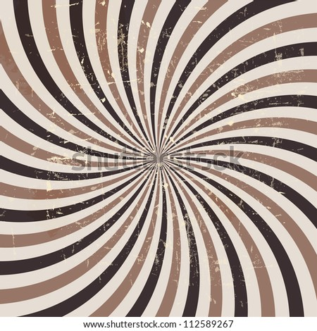 Coffee abstract hypnotic background. Raster version.