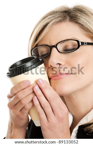 Coffee addict portrait