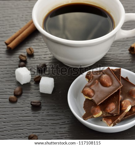 Coffee And Chocolate,Close Up