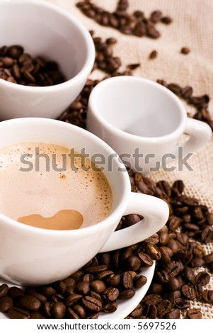 coffee and coffee-beans