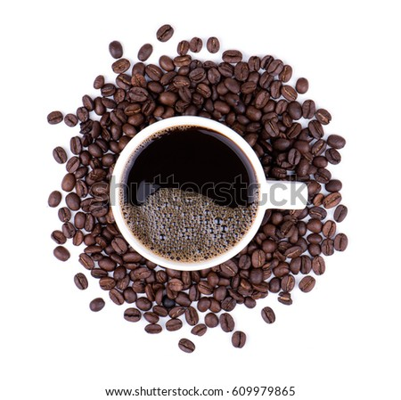 Coffee and coffee beans #609979865